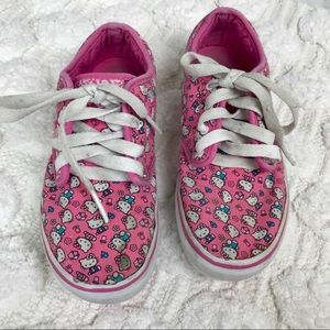 Hello Kitty Pink Lace Up Vans